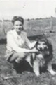Ardis McCallion and her collie Pat, c. 1940