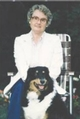 Ardis McCallion and her collie Sheba, c. 1979