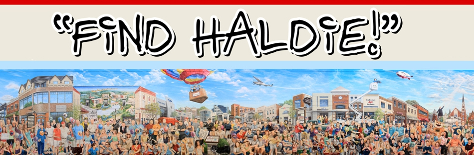 Enter the Find Haldie Contest today for a chance to be a part of the historial Naperville Loves a Parade mural